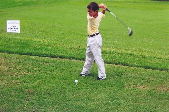 Emmanuel Bishop, age 8. Three months after starting to play golf.