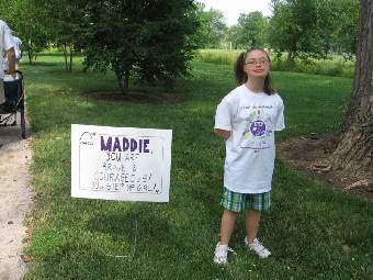 Maddie, you are brave and courageous! You step up girl!