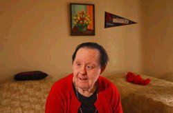 Irene Pinole, 76, lives at a group home in south Sacramento