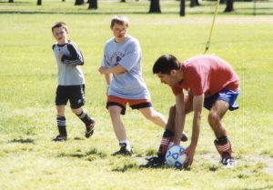 Mike Stroh at soccer practice